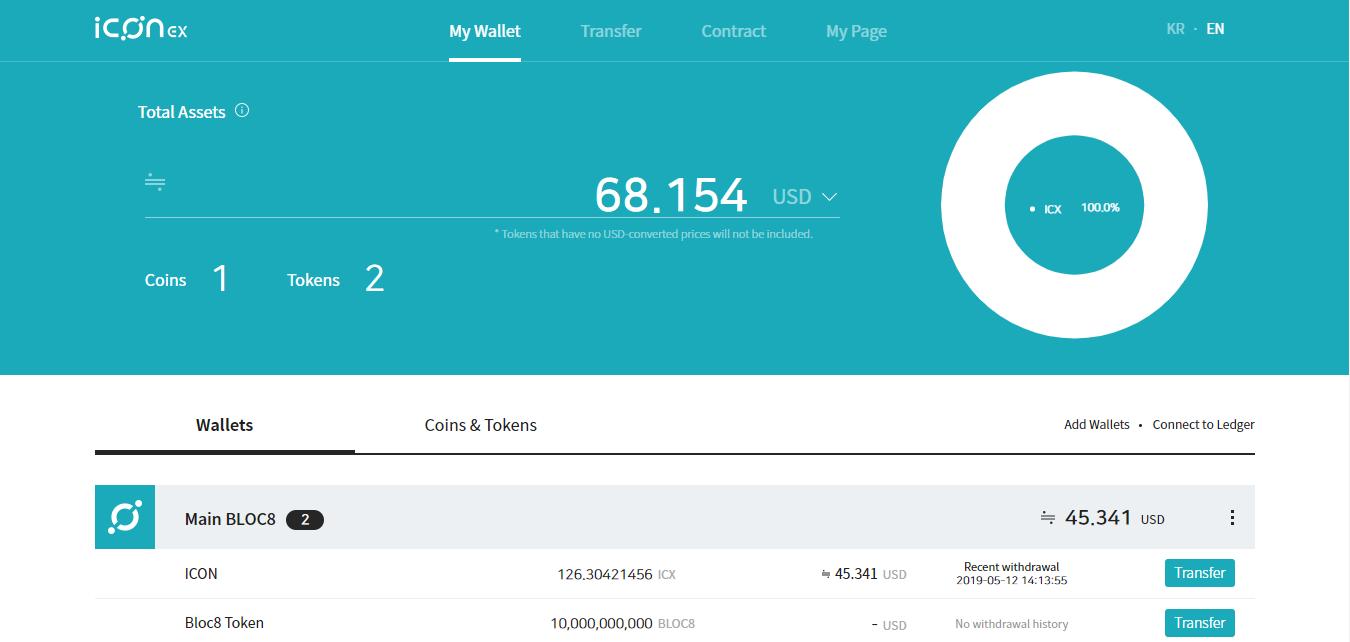 BLOC8 tokens now on ICON mainnet blockchain